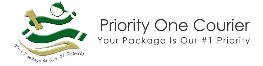Priority One Courier home page logo